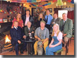 Cast of Heartbeat in the Aidensfield Arms at Christmas