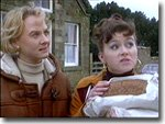 Dr.Kate Rowan (Niamh Cusack) and Gina Ward (Tricia Penrose) in one of her first appearances in Heartbeat 1993