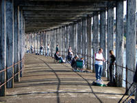 Fishing from Whitby Jetty