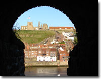 Whitby, through the arch